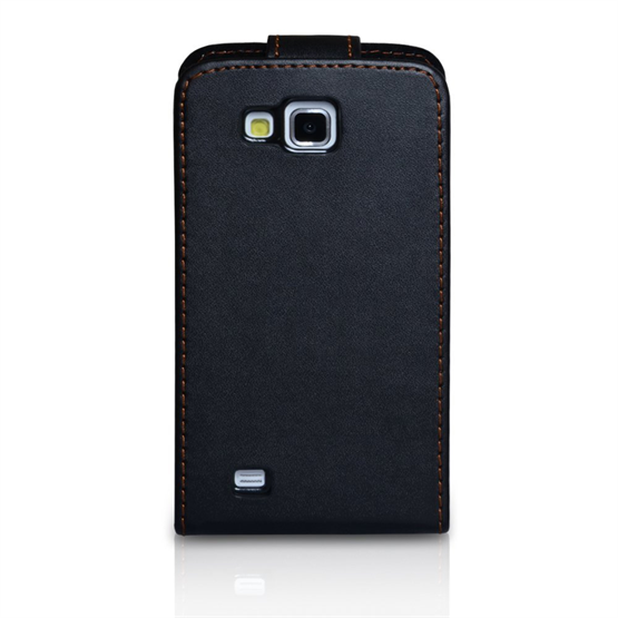 Yousave Accessories Samsung Galaxy Premier Black PU Leather Flip Case