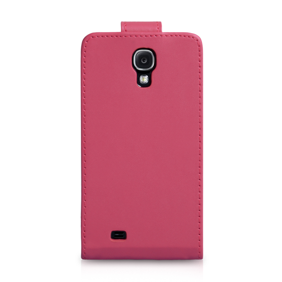 Yousave Accessories Samsung Galaxy S4 PU Flip Hot Pink Case
