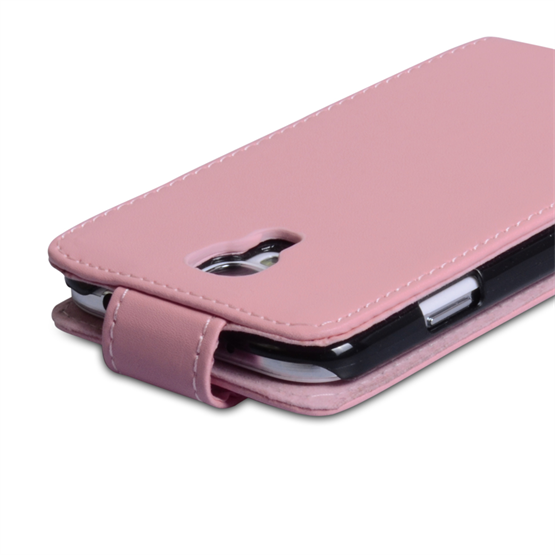 Yousave Accessories Samsung Galaxy S4 Leather Effect Flip Case -Pink