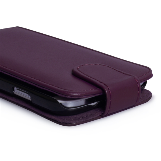 Yousave Accessories Samsung Galaxy S4 Leather-Effect Flip Case - Purple