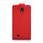 Yousave Accessories Samsung Galaxy S4 Leather-Effect Flip Case - Red