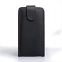 Yousave Accessories Samsung Galaxy S4 Leather Effect Wallet Case -Black (Brown Stitching)