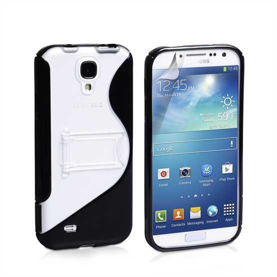 Yousave Accessories Samsung Galaxy S4 PU Stand Black Case