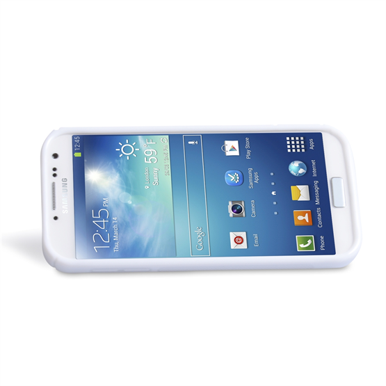 Yousave Accessories Samsung Galaxy S4 PU Stand White Case