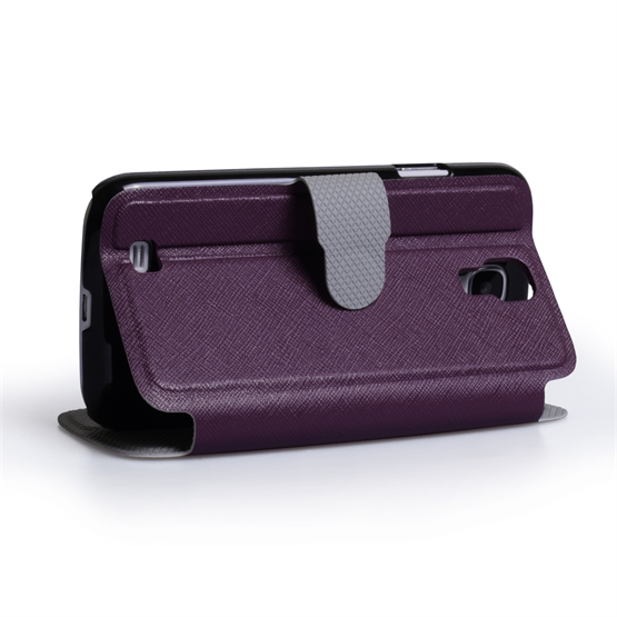 Yousave Accessories Samsung Galaxy S4 PU Stand Purple Case