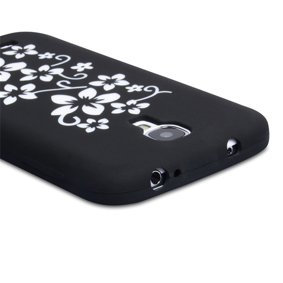 Yousave Accessories Samsung Galaxy S4 Floral Black Case