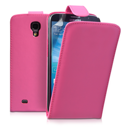 Yousave Accessories Samsung Galaxy Mega 6.3 PU Flip Hot Pink Case