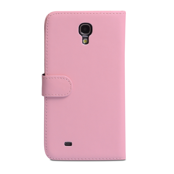 Yousave Accessories Samsung Galaxy Mega 6.3 PU Wallet Baby Pink Case