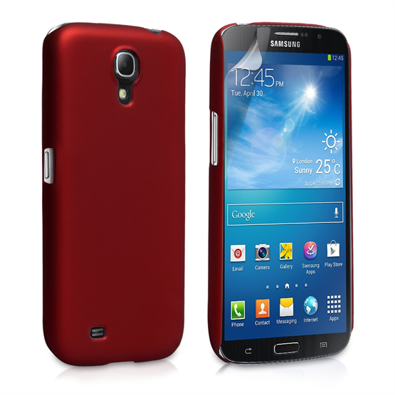 Yousave Accessories Samsung Galaxy Mega 6.3 Hybrid Red Case