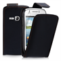 Yousave Accessories Samsung Galaxy Young PU Flip Black Case