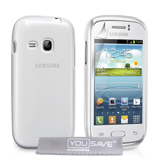 Yousave Accessories Samsung Galaxy Young Gel Clear Case