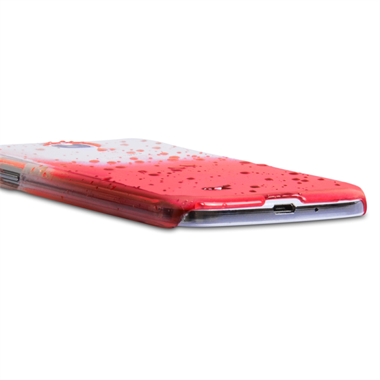 Yousave Accessories Samsung Galaxy S4 Raindrop Hard Case - Red-Clear