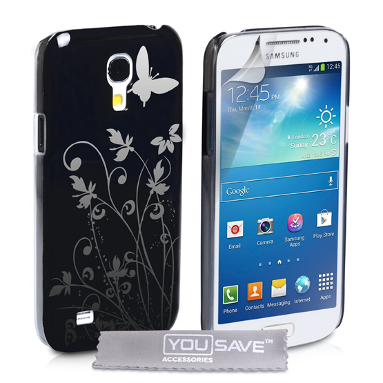 Yousave Accessories Samsung Galaxy S4 Mini IMD Black Case