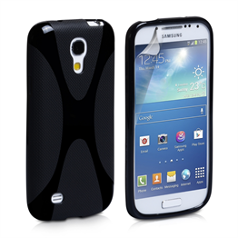 Yousave Accessories Samsung Galaxy S4 Mini Silicone Gel X-Line Case - Black