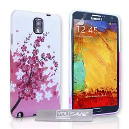 Yousave Accessories Samsung Galaxy Note 3 Floral Bee Pink Case