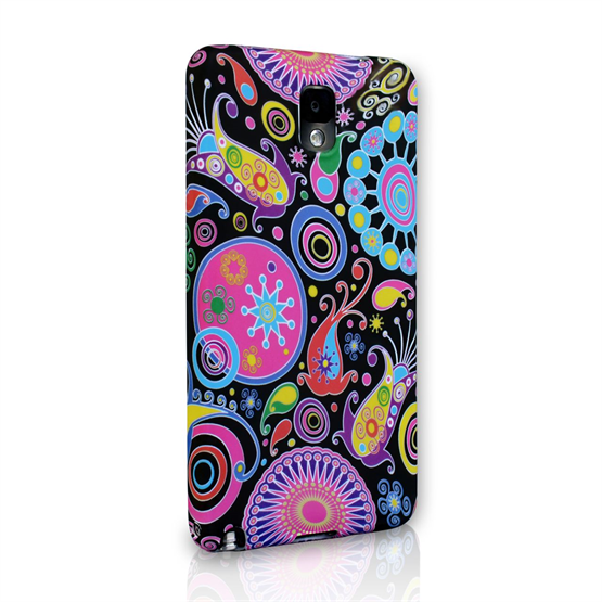 Yousave Accessories Samsung Galaxy Note 3 Jellyfish Multicoloured Case