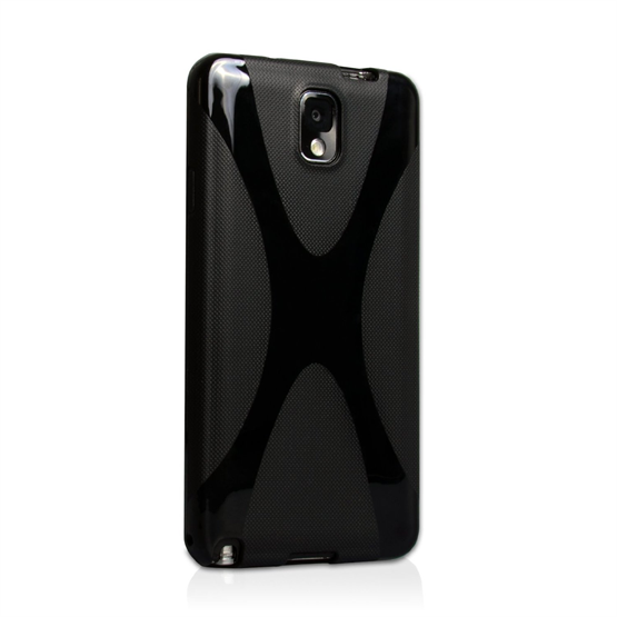 Yousave Accessories Samsung Galaxy Note 3 X-Line Black Case