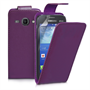 Yousave Accessories Samsung Galaxy Ace 3 PU Flip Purple Case