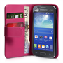 Yousave Accessories Samsung Galaxy Ace 3 PU Wallet Hot Pink Case