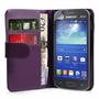 Yousave Accessories Samsung Galaxy Ace 3 PU Wallet Purple Case