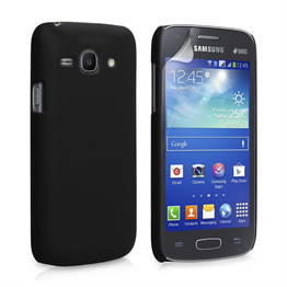 Yousave Accessories Samsung Galaxy Ace 3 Hybrid Black Case