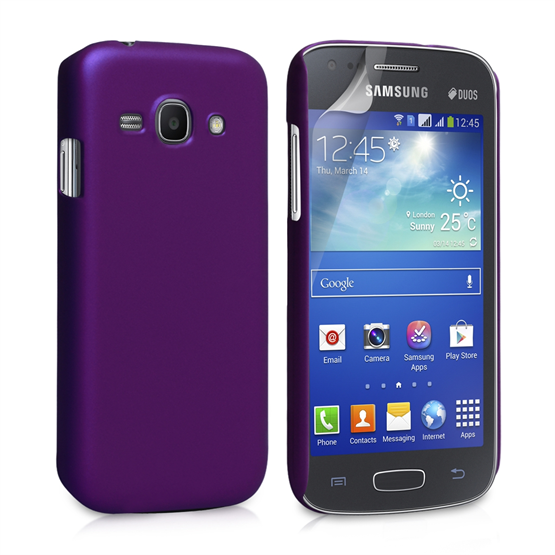 Yousave Accessories Samsung Galaxy Ace 3 Hybrid Purple Case