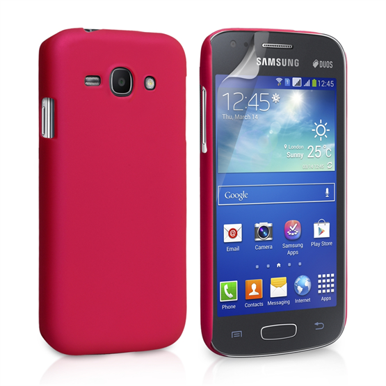 Yousave Accessories Samsung Galaxy Ace 3 Hybrid Hot Pink Case