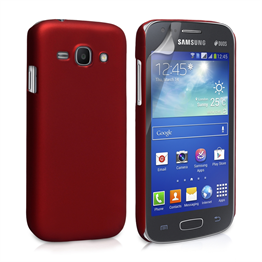 Yousave Accessories Samsung Galaxy Ace 3 Hybrid Red Case