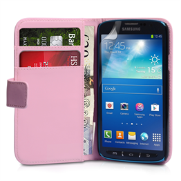 Yousave Accessories Samsung Galaxy S4 Active PU Wallet Baby Pink Case