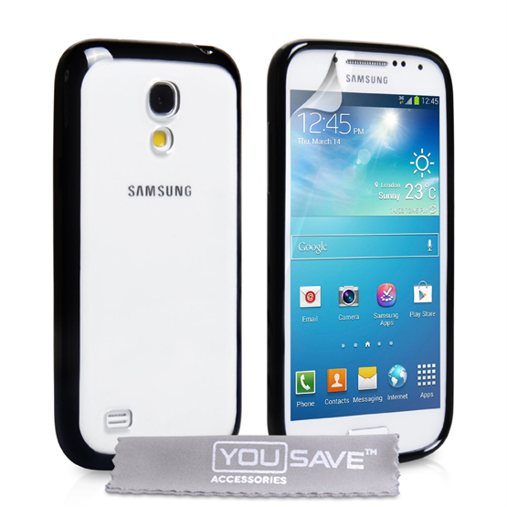 Yousave Accessories Samsung Galaxy S4 Mini Bumper Black Case
