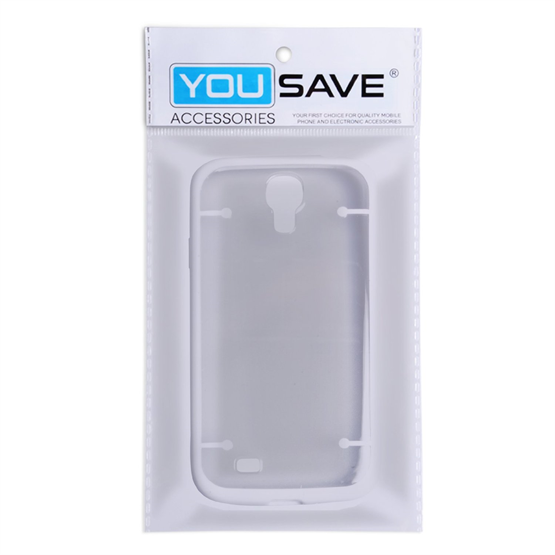 Yousave Accessories Samsung Galaxy S4 White Clear Back Case