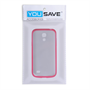 Yousave Accessories Samsung Galaxy S4 Mini Hot Pink Clear Tpu+Pc Case