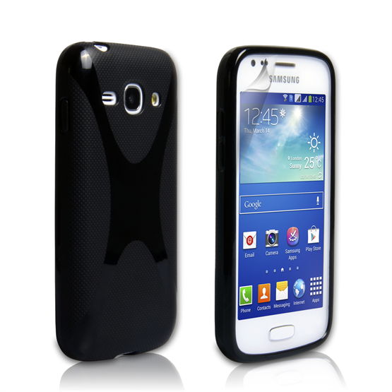 Yousave Accessories Samsung Galaxy Ace 3 X-Line Black Case