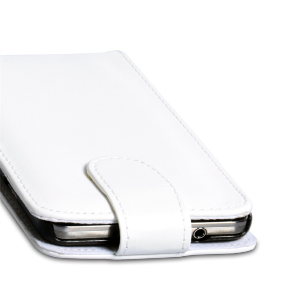 Yousave Accessories Samsung Galaxy Note 3 White PU Leather Flip Case