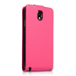 Yousave Accessories Samsung Galaxy Note 3 PU Flip Hot Pink Case
