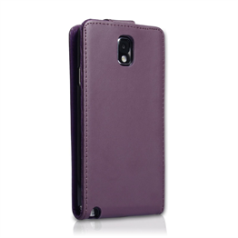 Yousave Accessories Samsung Galaxy Note 3 PU Flip Purple Case