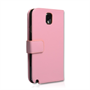 Yousave Accessories Samsung Galaxy Note 3 PU Wallet Baby Pink Case