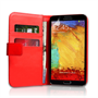 Yousave Accessories Samsung Galaxy Note 3 PU Wallet Red Case