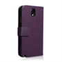 Yousave Accessories Samsung Galaxy Note 3 PU Wallet Purple Case