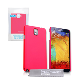 Yousave Accessories Samsung Galaxy Note 3 Hot Pink Hybrid