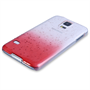Yousave Accessories Samsung Galaxy S5 Raindrop Hard Case - Red-Clear
