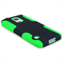 Yousave Accessories Samsung Galaxy S5 Tough Mesh Combo Silicone Case - Green-Black