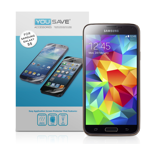 Yousave Accessories Samsung Galaxy S5 Screen Protector - ( 3 Pack )