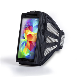 Yousave Accessories Samsung Galaxy S5 Grey/Black Sports Armband