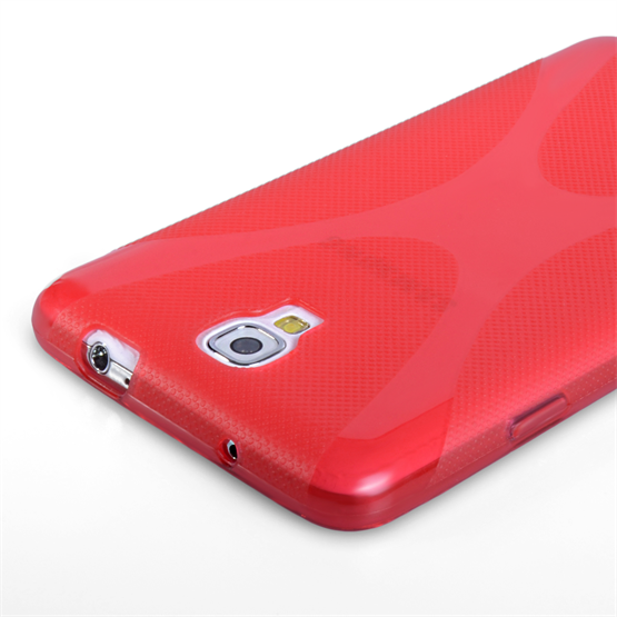 Yousave Accessories Samsung Galaxy Note 3 Neo Silicone Gel X-Line Case - Red