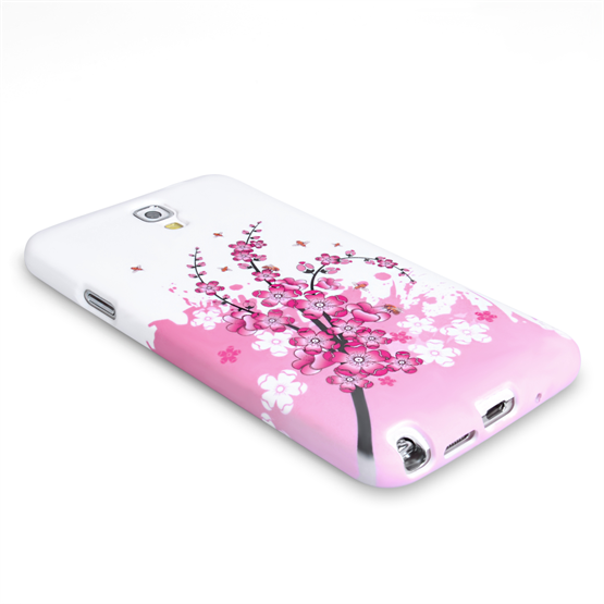 Yousave Accessories Samsung Galaxy Note 3 Neo Floral Bee Silicone Gel Case