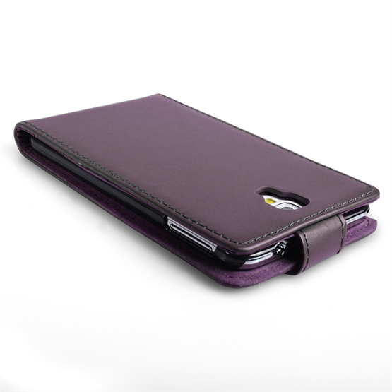 Yousave Accessories Samsung Galaxy Note 3 Neo Leather-Effect Flip Case - Purple