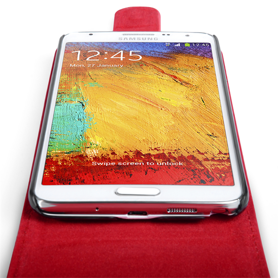 Yousave Accessories Samsung Galaxy Note 3 Neo Leather-Effect Flip Case - Red