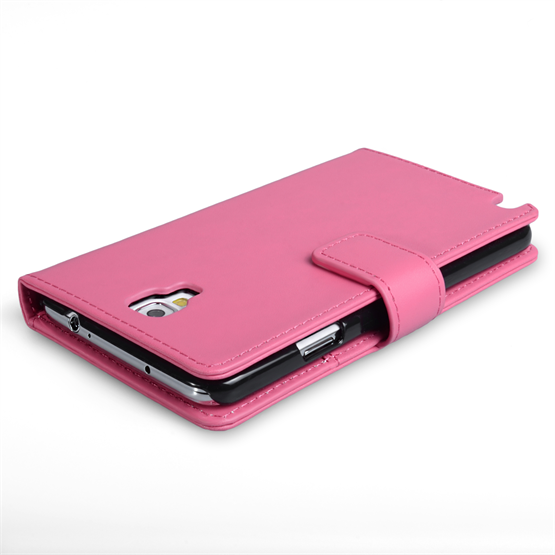 Yousave Accessories Samsung Galaxy Note 3 Neo Leather-Effect Wallet Case - Hot Pink
