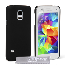 Yousave Accessories Samsung Galaxy S5 Mini Hard Hybrid Case - Black